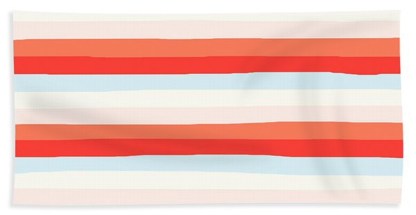 lumpy or bumpy lines abstract and colorful - QAB266 Bath Towel