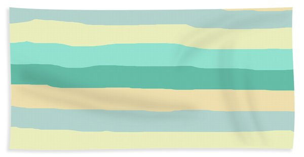 lumpy or bumpy lines abstract and summer colorful - QAB271 Bath Towel
