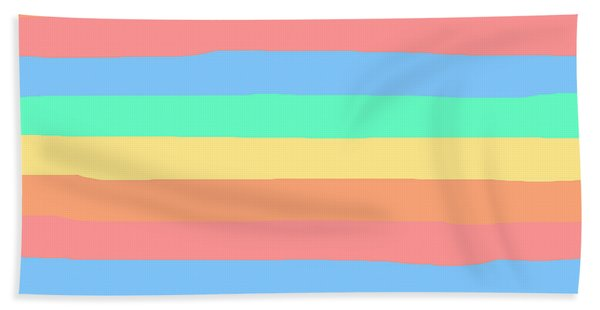lumpy or bumpy lines abstract and summer colorful - QAB275 Bath Towel