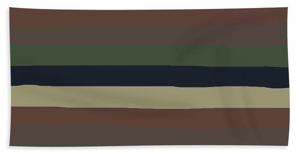 Army Color Style Lumpy Or Bumpy Lines - Qab279 Bath Towel