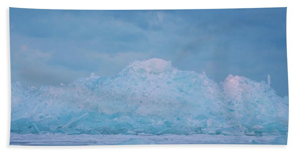 Mackinaw City Ice Formations 2161802 Bath Towel