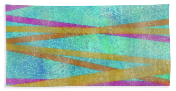 Malaysian Tropical Batik Strip Print Bath Towel