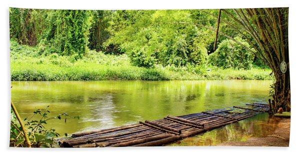 Martha Brae River Bamboo Rafting Bath Towel