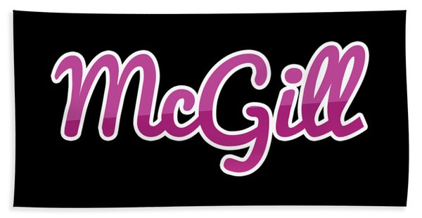 Mcgill #mcgill Bath Towel