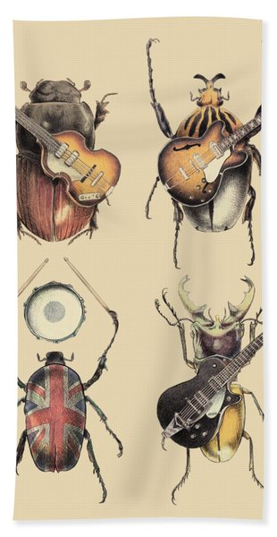 Meet The Beetles Hand Towel