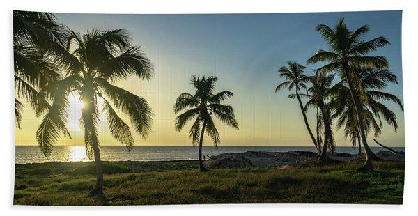 Mexico Palm Tree Sunrise Hand Towel
