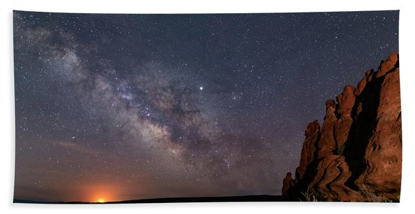 Milky Way At Navajo Rocks Hand Towel