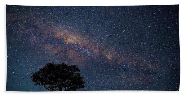 Milky Way Over Africa Bath Towel