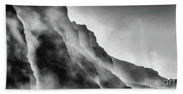 Mist On The Rocks Bath Towel