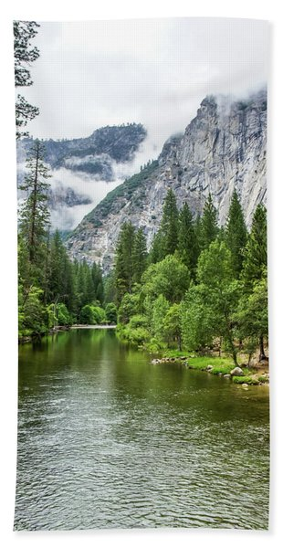 Misty Mountains, Yosemite Bath Towel