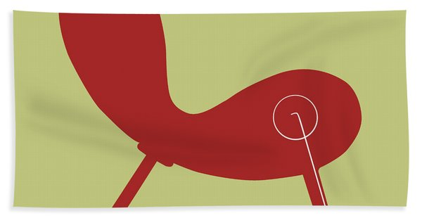 Modern Indian Red Chair Hand Towel
