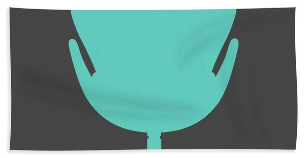 Modern Teal Chair I Hand Towel