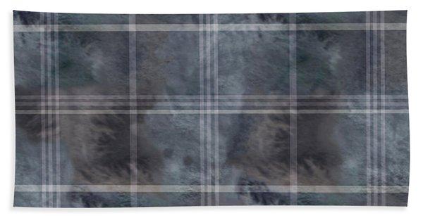 Moody Blue Plaid Bath Towel