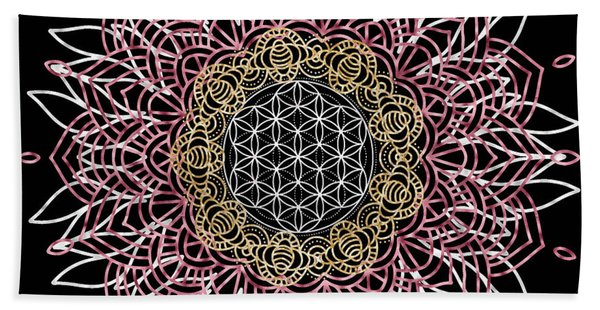 Bath Towel featuring the digital art Moon Mandala by Bee-Bee Deigner