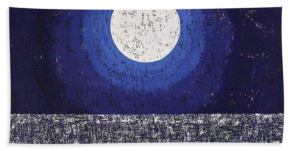 Moonbathing Original Painting Hand Towel