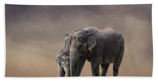 Mother And Son Bath Towel