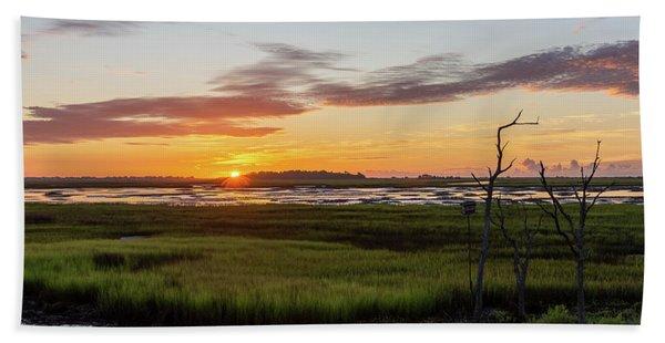 Murrells Inlet Sunrise - August 4 2019 Hand Towel