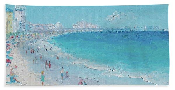 Myrtle Beach And Springmaid Pier Hand Towel