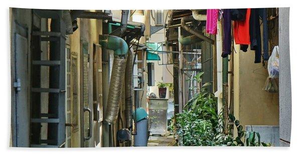 Narrow Alley In Taiwan Hand Towel