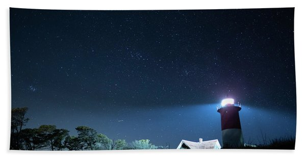 Nauset Light Under The Stars Hand Towel