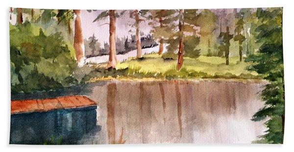 Nez Perce Lake Hand Towel