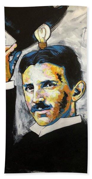 Nikola Tesla Bath Towel
