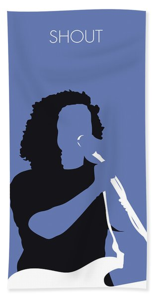No268 My Tears For Fears Minimal Music Poster Bath Towel