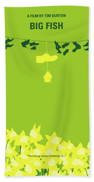No993 My Big Fish Minimal Movie Poster Hand Towel