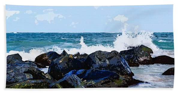 Ocean Meets The Coast Bath Towel