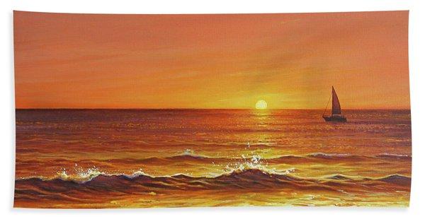 Ocean Of Fire Bath Towel