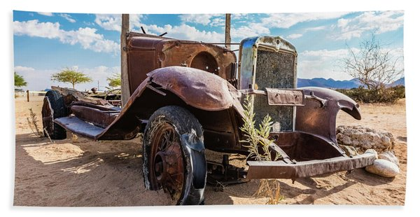 Old And Abandoned Car 3 In Solitaire, Namibia Bath Towel