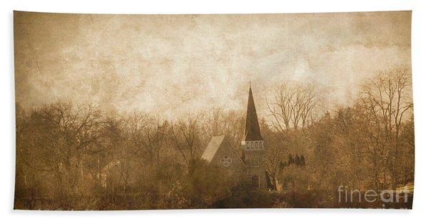 Old Church On A Hill  Bath Towel