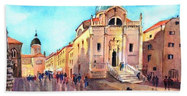 Old City Of Dubrovnik Hand Towel