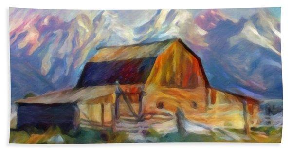 Old Wyoming Barn Hand Towel