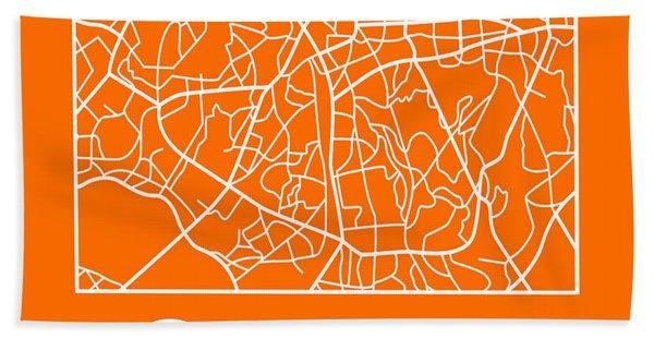 Orange Map Of Sao Paulo Hand Towel