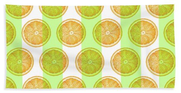 Orange Slice Pattern 2 - Tropical Pattern - Tropical Print - Lemon - Orange - Fruit - Tangerine Hand Towel