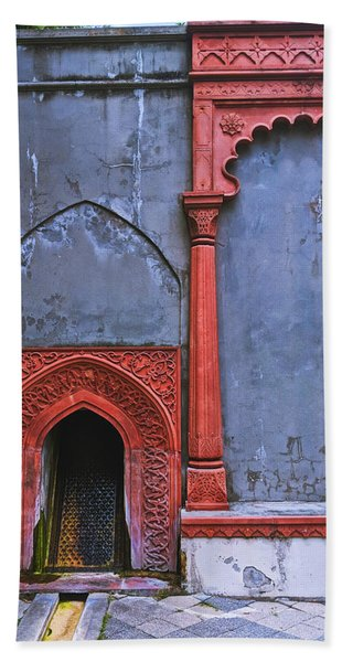 Ornate Red Wall Bath Towel