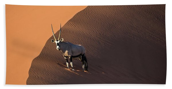 Oryx On The Edge, Namibia Hand Towel