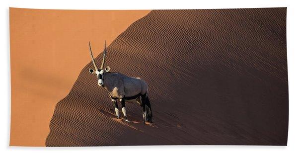 Oryx On The Edge, Namibia Bath Towel