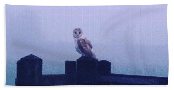 Owl In The Mist Bath Towel
