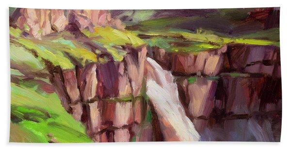 Palouse Falls Rush Hand Towel