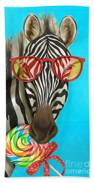Party Safari Zebra Bath Towel