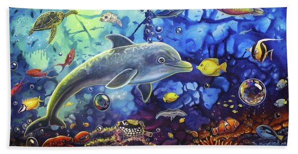 Past Memories New Beginnings Dolphin Reef Bath Towel
