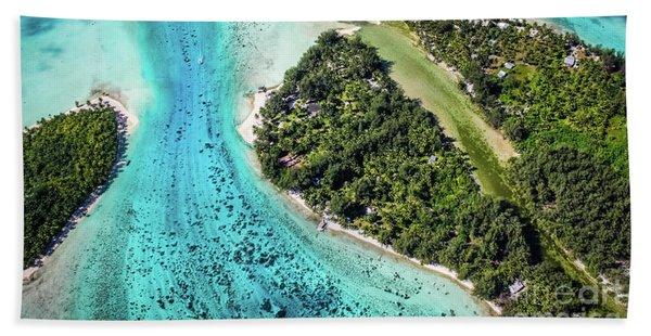 Bora Bora - Pathway To The Ocean Bath Towel