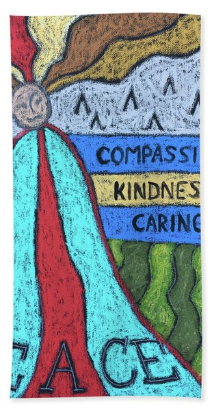 Peace Compassion Kindness Caring Hand Towel