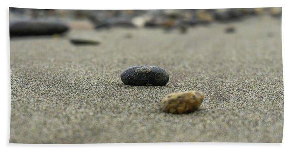 Pebbles On The Beach Hand Towel