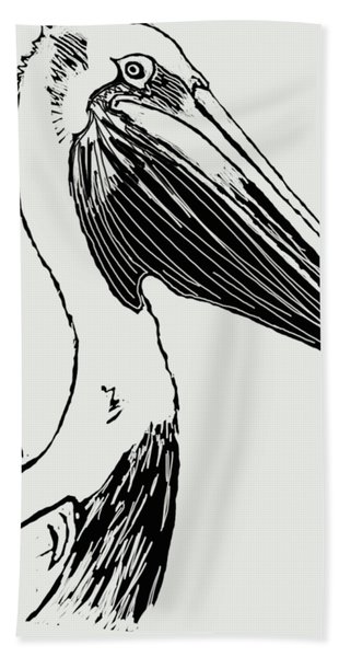 Pelican On Waves Hand Towel
