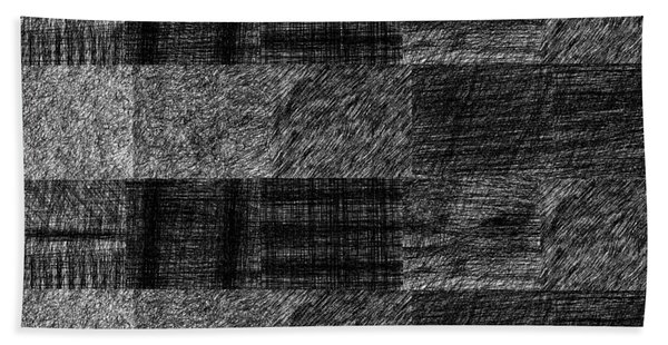 Pencil Scribble Texture 1 Bath Towel