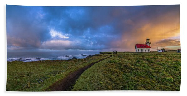 Point Cabrillo Light Station Panorama Hand Towel