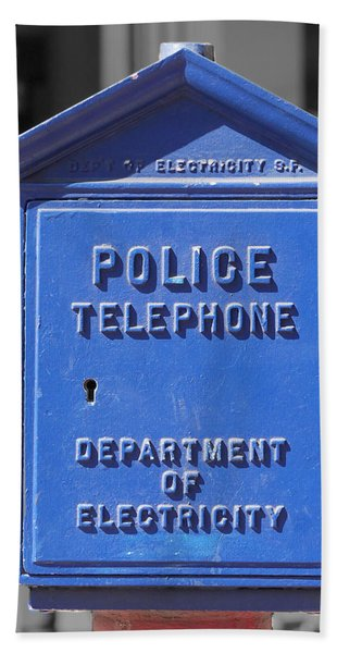Police Box Bath Towel